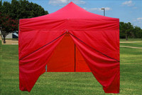 Red 10'x10' Pop up Tent with 4 Sidewalls - F Model Upgraded Frame
