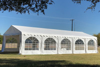 PVC Party Tent 32'x16' - Heavy Duty Party Wedding Tent Canopy - White