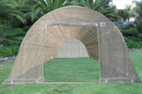 Greenhouse 33'x13' w Sun Shade Cover - Walk In Nursery