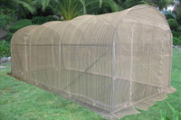 Greenhouse 15'x7' w Sun Shade Cover - Walk In Nursery