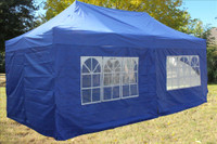 Blue 10'x20' Pop up Tent with 6 Sidewalls - E Model