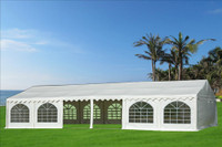 PVC Party Tent 40'x20' - Heavy Duty Party Wedding Tent Canopy - White