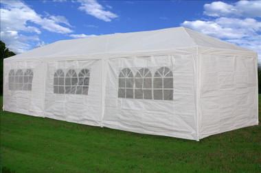 Image 1 & White 10u0027 x 30u0027 PE Wedding Tent