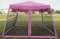 8'x8'/10'x10' Pink Slant Leg - Pop up Tent with Mosquito Net