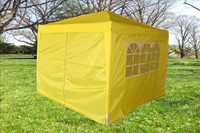 10'x10' Pop Up Canopy Party Tent EZ CS - Yellow