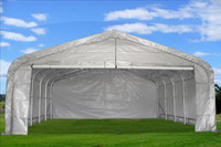 Carport - 20'x22' Grey/White - Storage Canopy Shed  Shelter