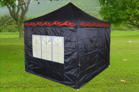 Black Flame 10'x10' Pop up Tent with 4 Sidewalls - E Model