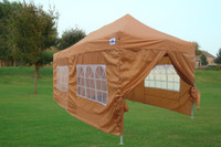 Burnt Orange 10'x20' Pop up Tent with 6 Sidewalls - E Model