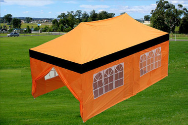 Image 1 & Black Orange 10u0027x20u0027 Pop-up Tent w/ 6 Sidewalls