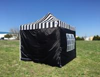 Black Stripe 10'x10' Pop up Tent with 4 Sidewalls - E Model