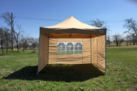 Tan 10'x10' Pop up Tent with 4 Sidewalls - E Model
