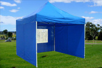 Blue 10'x10' Pop up Tent with 4 Sidewalls - E Model