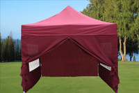 Maroon 10'x10' Pop up Tent with 4 Sidewalls - E Model