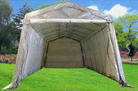 Carport - 24'x13'x10' Storage Canopy Shed - Grey/White