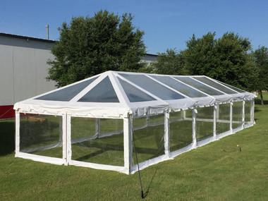 60u0027x20u0027 Clear PVC ComBi Tent - Heavy Duty Party Wedding Tent Canopy Gazebo & Party Tent PVC Party Canopy Wedding Tent
