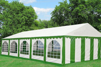 PE Party Tent 32'x16' - Heavy Duty Wedding Canopy - Green White
