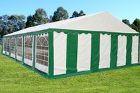 PE Party Tent 40'x20' - Heavy Duty Wedding Canopy - Green White