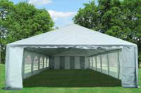 PE Party Tent 40'x20' - Heavy Duty Wedding Canopy - Grey White