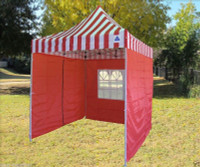 8'x8' Red Stripe Basic - Pop up Tent