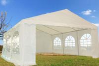 PE Party Tent 20'x16' White- Heavy Duty Wedding Canopy Gazebo
