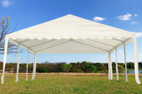 PE Party Tent 20'x16' White- Heavy Duty Wedding Canopy Gazebo
