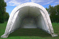 Carport - 20'x12'x8' Storage Canopy Shed - Grey/White