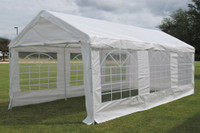 PE Party Tent 20'x10' (2010T) - Heavy Duty Carport Canopy - White