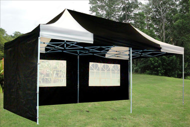 Image 1 & Black/White 10u0027x20u0027 Pop-Up Tent w/ 6 Sidewalls