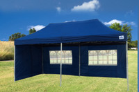 Navy Blue 10'x20' Pop up Tent with 6 Sidewalls - F Model  Upgraded Frame