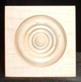 Maple bullseye rosette, square edge