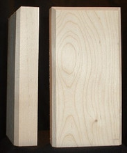 Maple plinth block, beveled edge