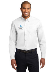 Easy Care Dress Shirt White Front