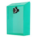Green Acrylic Wall Donation Box with Clear Front