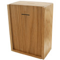 Wide Wooden Locked Wall Donation Box