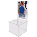 Clear Acrylic Suggestion & Ballot Box w/Display - 18