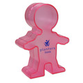 Person Shaped Charity Box - Translucent Pink