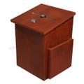 Donation Box with Brochure Pocket in Mahogany Finish - 06