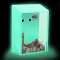 Locked Donation Box w/Back Wall Curved Display Area - 06 Glow In The Dark