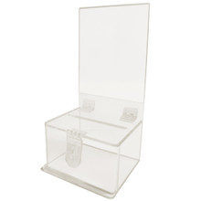 Clear Ballot / Charity Box with Display