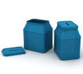 Blue Donation Tin