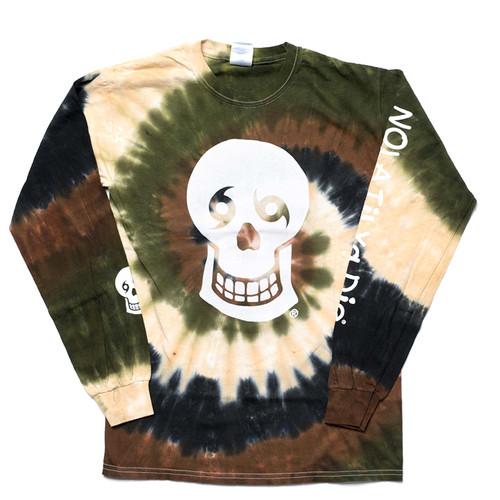 Skull w/Words Big Back Long Sleeve (Camo Tie Dye)