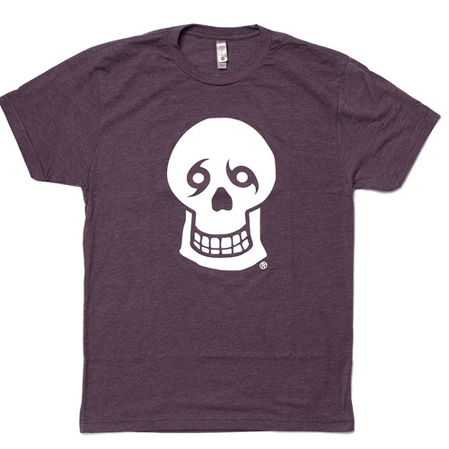 NTYD Big Skull Front & Back Tee (Heather Dk Purple)
