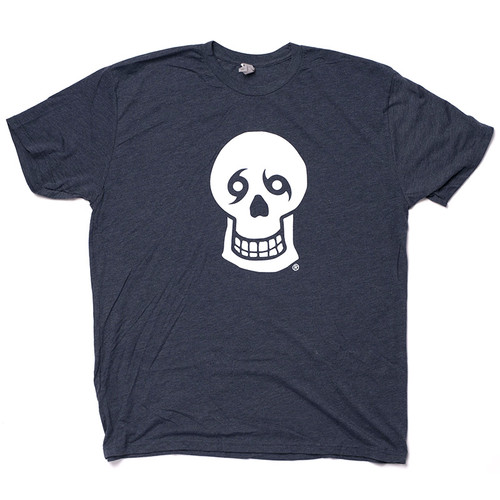 NTYD Big Skull Front & Back Tee (Heather Navy)