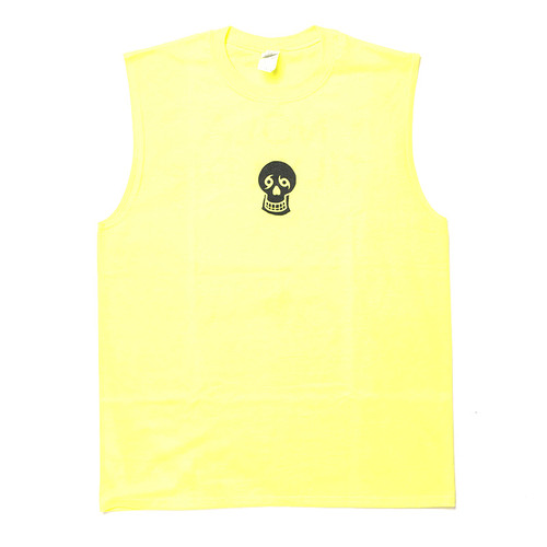 Words Big Back Unisex Tank (Neon Yellow)