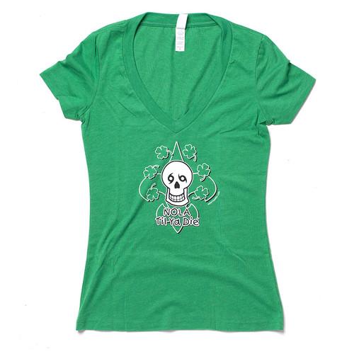 FDL Clover Women's V-Neck (Green)