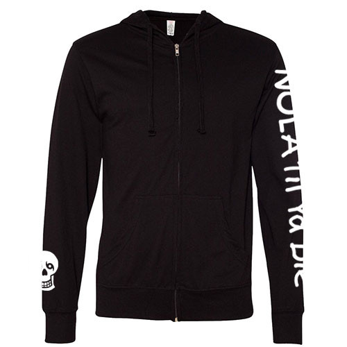 NTYD Lightweight Full-Zip Hoodie (Black)