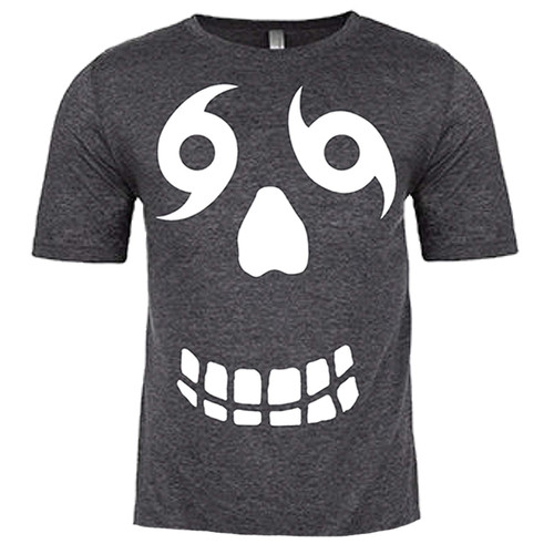 Face Front & Back Adult (Charcoal)