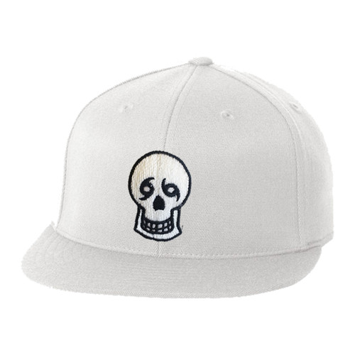 Skull Fitted Hat (White)
