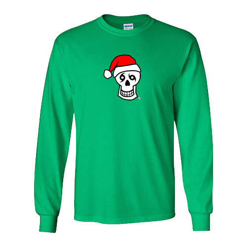 Santa Skull Long Sleeve (Green)