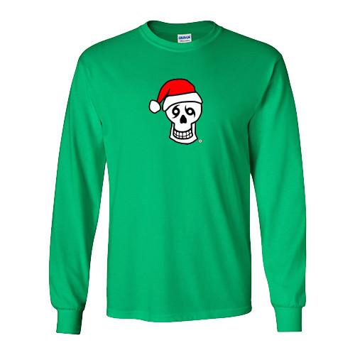 TYD Santa Skull Long Sleeve (Green)
